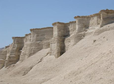 Ruins of Sodom and Gomorrah by Dead Sea